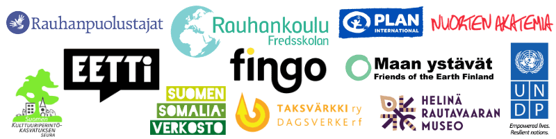 Maailmankoulun yhteistyökumppaneiden logoja