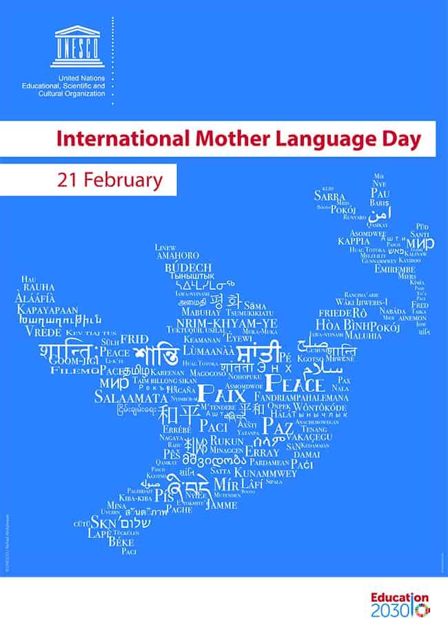 Unescon International Mother Language Day -juliste